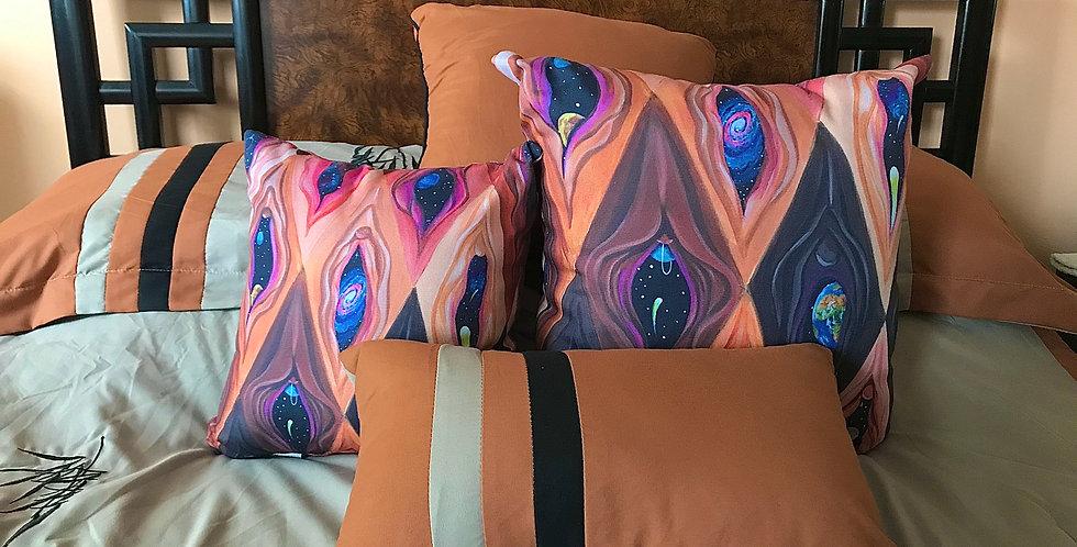"""""""Argyle Yoni"""" pillows"""
