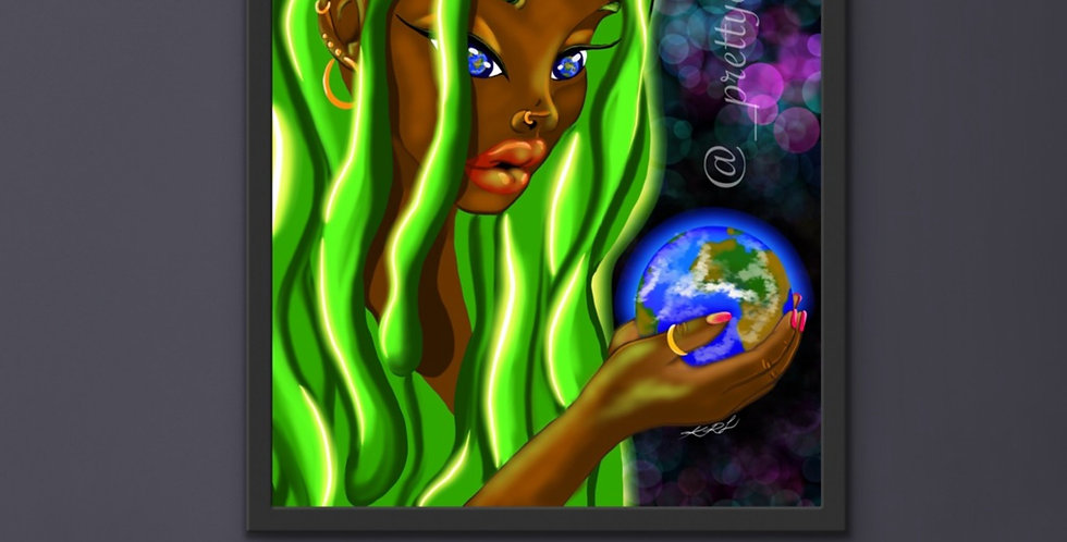 """""""Earth goddess"""" poster"""