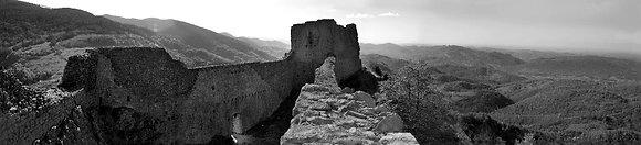 Montsegur Castle Panoramic Pn 1