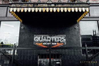 Quarters Arcade Bar Neon Sign