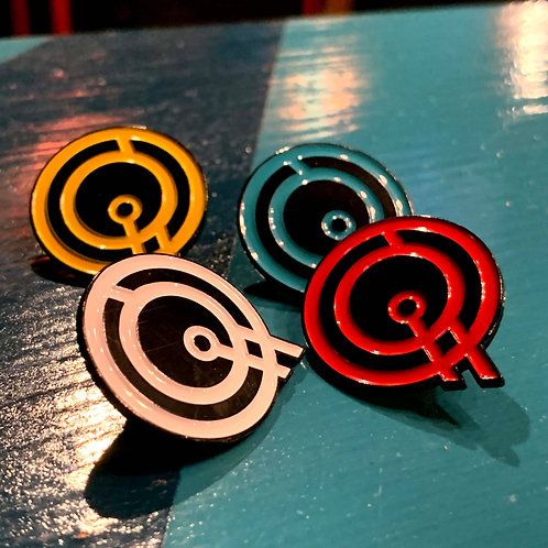 Q Enamel Pin