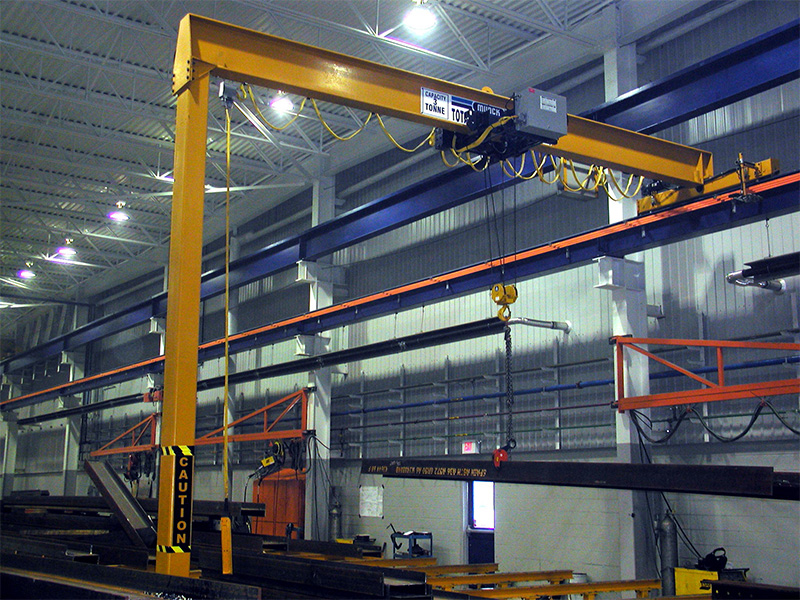 Munck Cranes Single Girder Semi Gantry Overhead Crane.