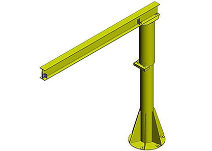 Free standing or floor mounted Jib Crane