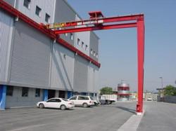Munck Cranes Semi Gantry Overhead Crane, Double Girder, Top Running Semi Gantry Overhead Crane.