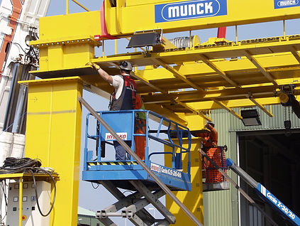 Munck Cranes Service and Support Rebuild and Re-certification