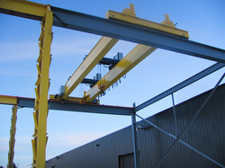 Munck Cranes double girder multiple hoist, multiple trolley, outdoor crane.  Box girder, Double gird