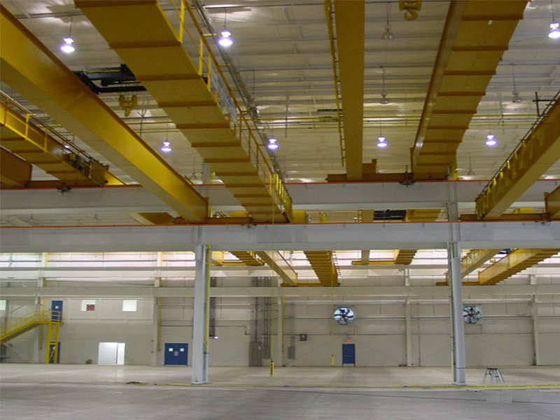 Munck Cranes Custom Designed Multiple Level Double Girder Cranes.  Top Running Overhead Crane. DG TR