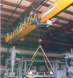 Munck Cranes Single Girder Under Running Overhead Crane.  SG UR Overhead Crane, Class A-F, Explosion