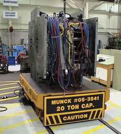 Munck Cranes Flat Deck Transfer Cart, Electrically Operated.  Equipment Transfer, Machine Transfer