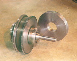 Double Flanged wheel and Sheave. Overhead Crane parts.