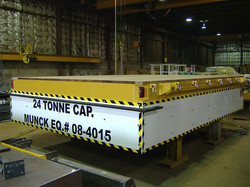 Munck Cranes Flat Deck Transfer Cart, Battery Operated With Skirts.