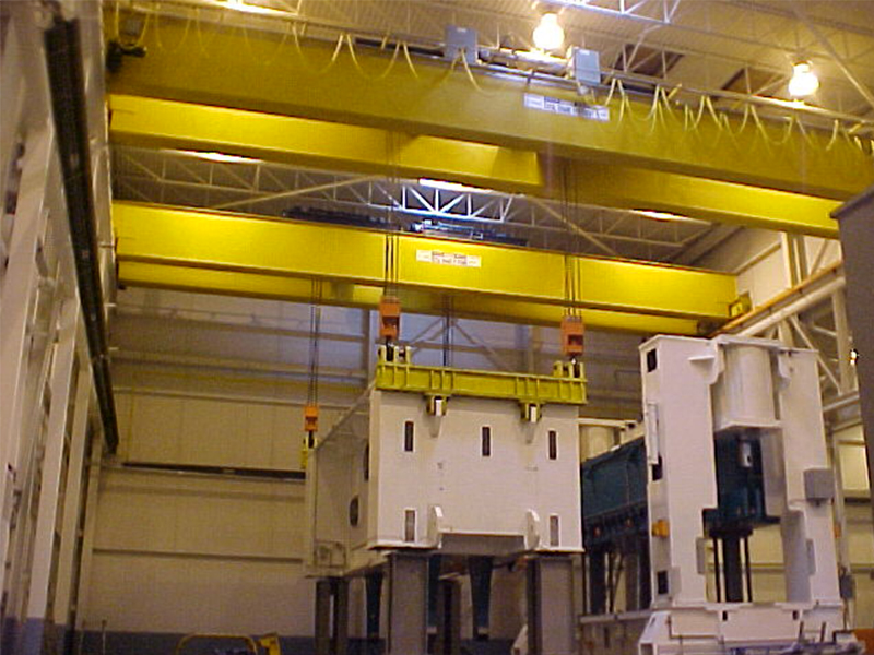 Munck Cranes Multiple Double Girder Top Running Dual Hoist Overhead Cranes.  DG TR Overhead Crane, C