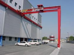 Munck Cranes semi gantry runway, top and bottom running, smooth surface, urethane wheeled. TR UR.