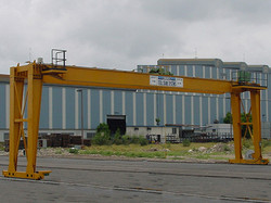 Munck Cranes Self-Supported, Free Standing Crane, Outdoor Double Girder Full Gantry Crane.