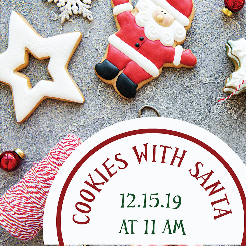 COOKIES WITH SANTA @ 11am