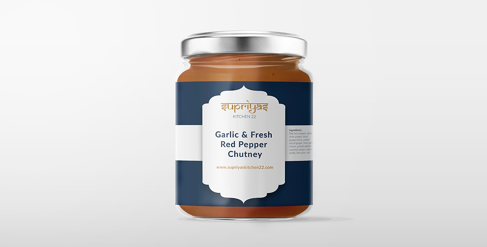 Garlic and fresh Red Pepper Chutney