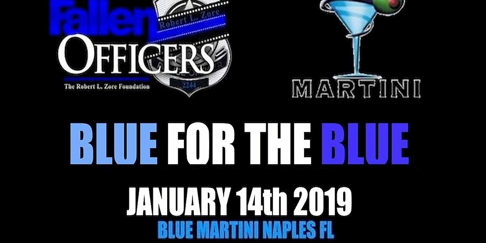 Support The Blue At Blue Martini