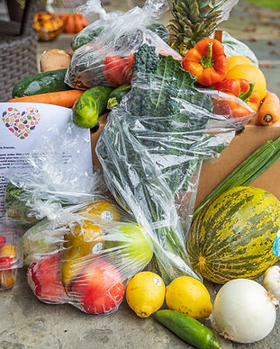 image of fruit and vegetables in produce bags from supermarket