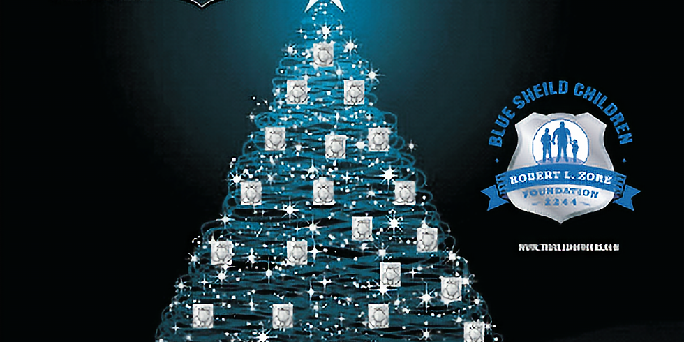 """PNC Bank & The Fallen Officers """"Blue Shield"""" Christmas Tree"""
