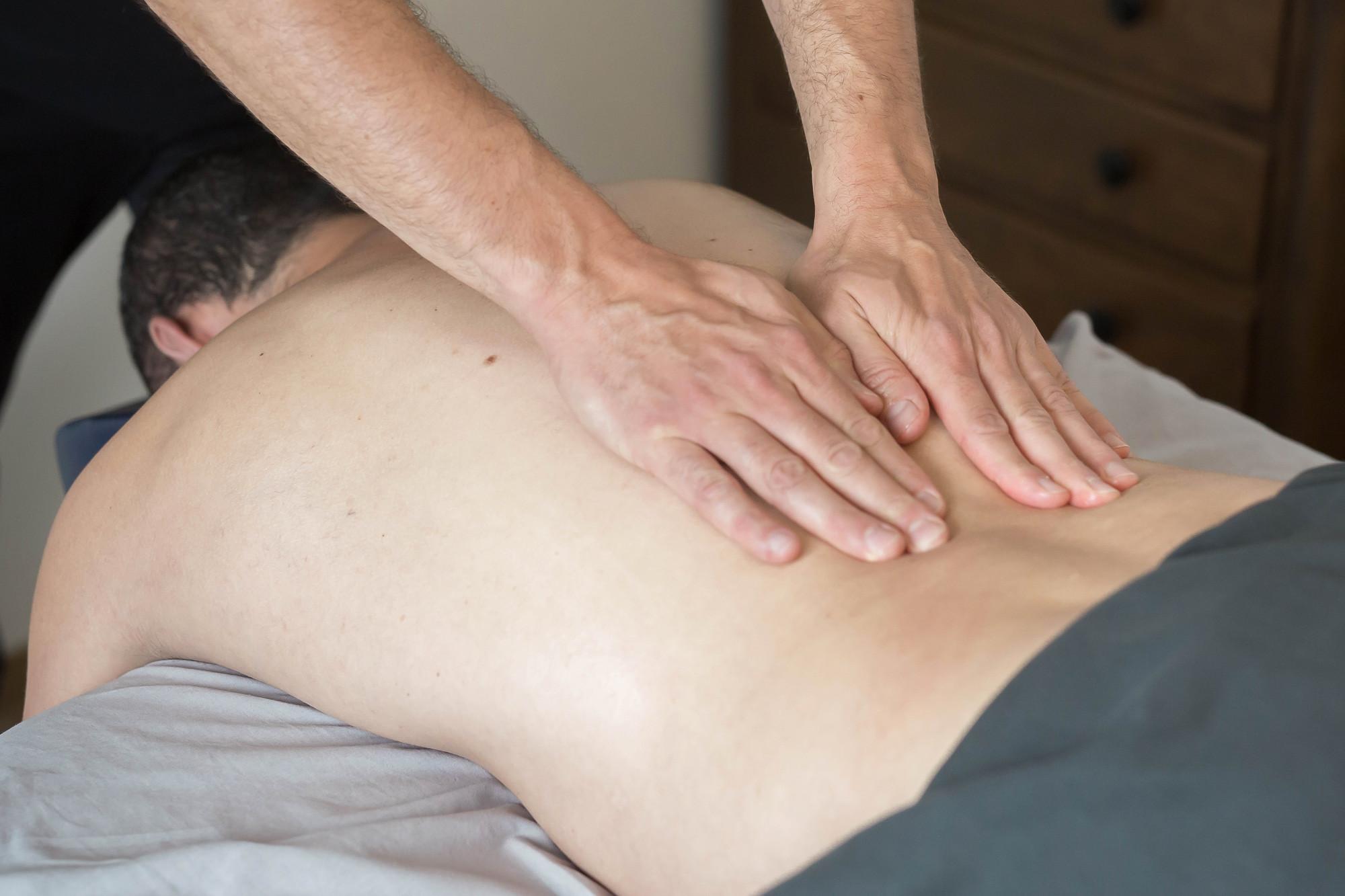 Massage relaxant aux huiles