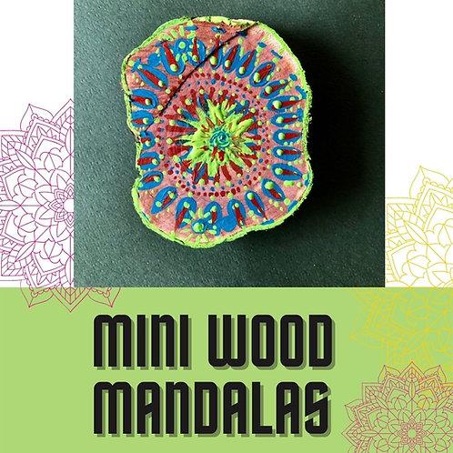 Mini Wood Mandalas