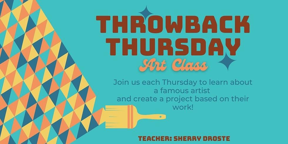 Throwback Thursday Art Class