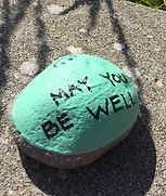 Be well kindness rock