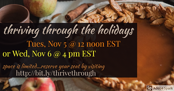 Thriving Through the Holidays event