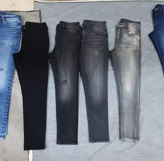 Black denim wash shades