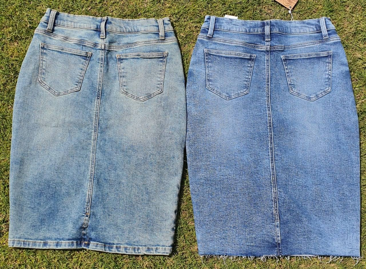 Wash trials denim skirts