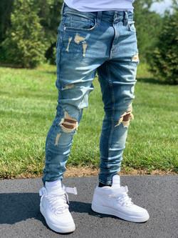 Men's jeans with deconstruction