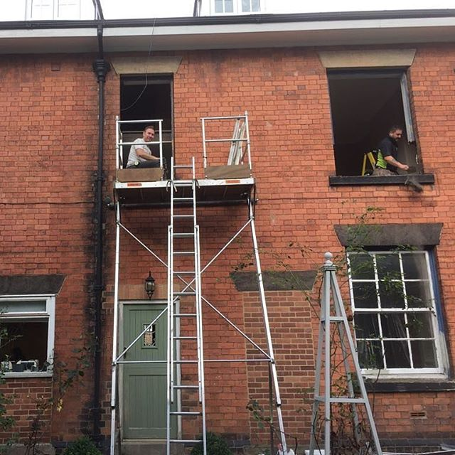 Last weeks project in chesterfield, replacement timber box sash window's, transform windown into har