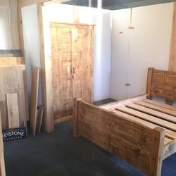 Handmade bed high foot board