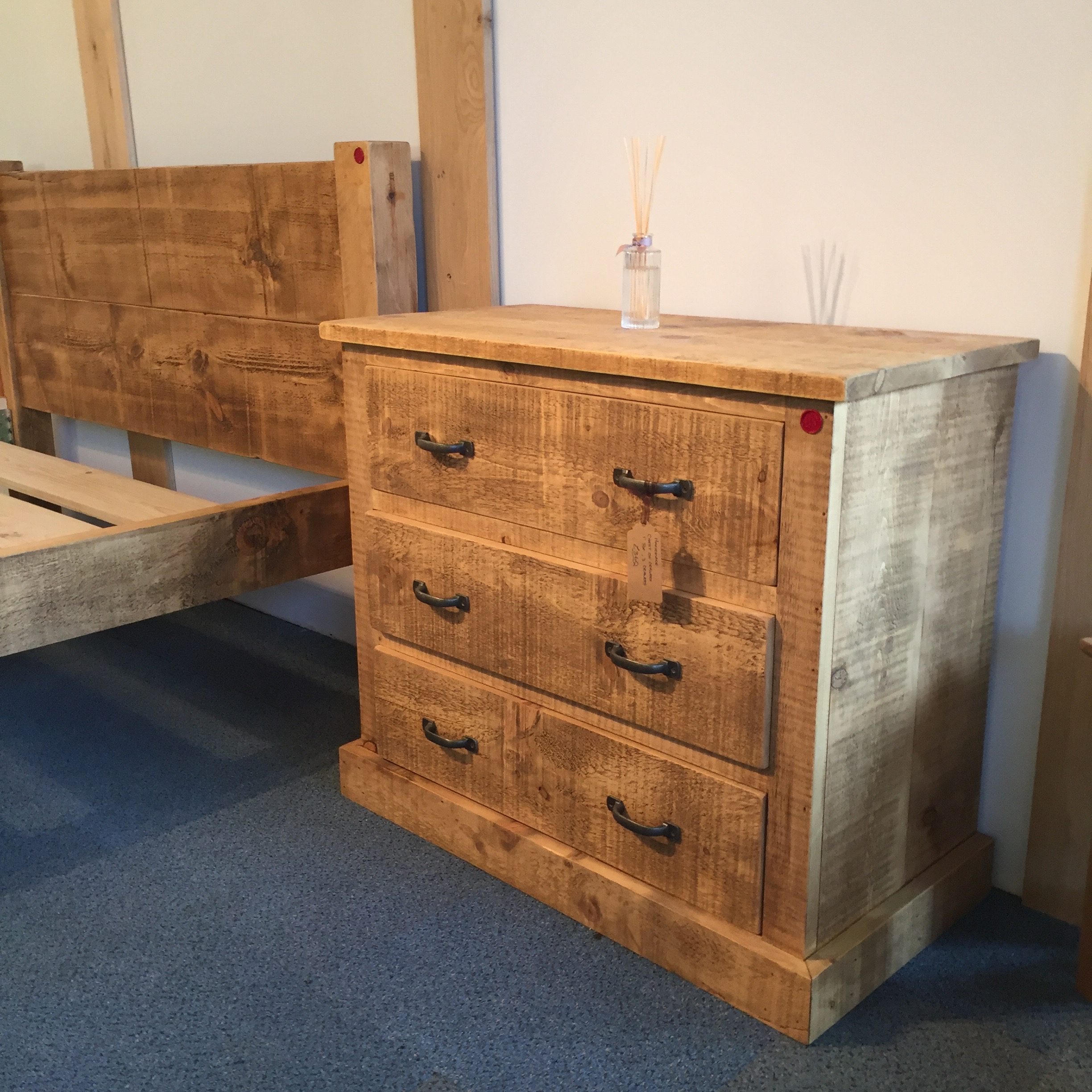 Handmade 3 Drawer chest of drawers