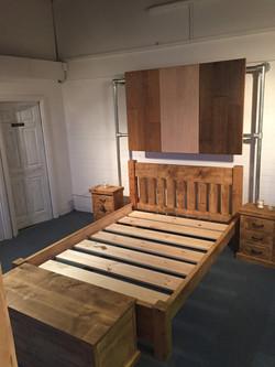 Handmade bed,low foot board