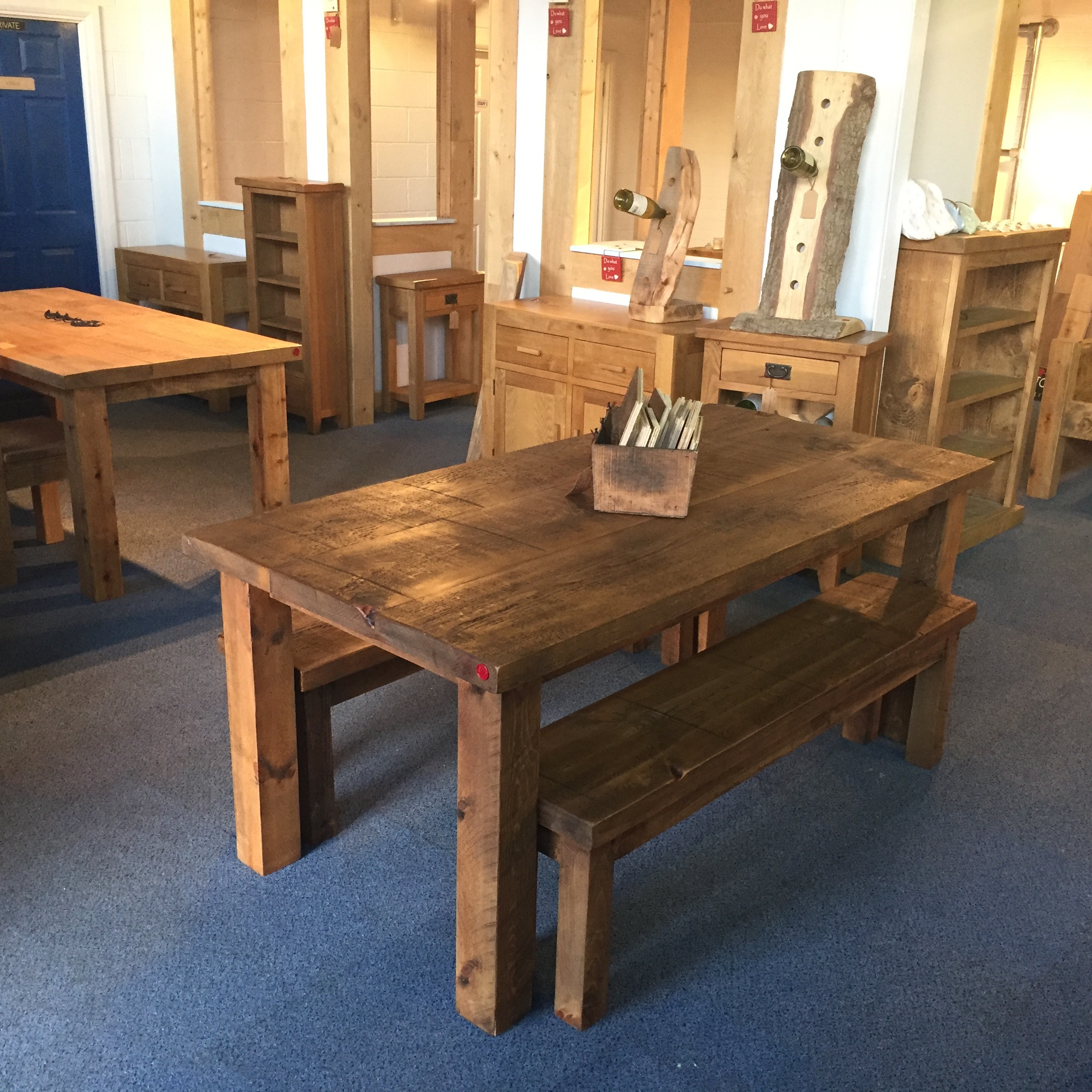Handmade Dining table and benches