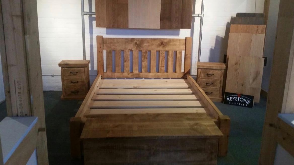 Handmade bed&bedside cabinets