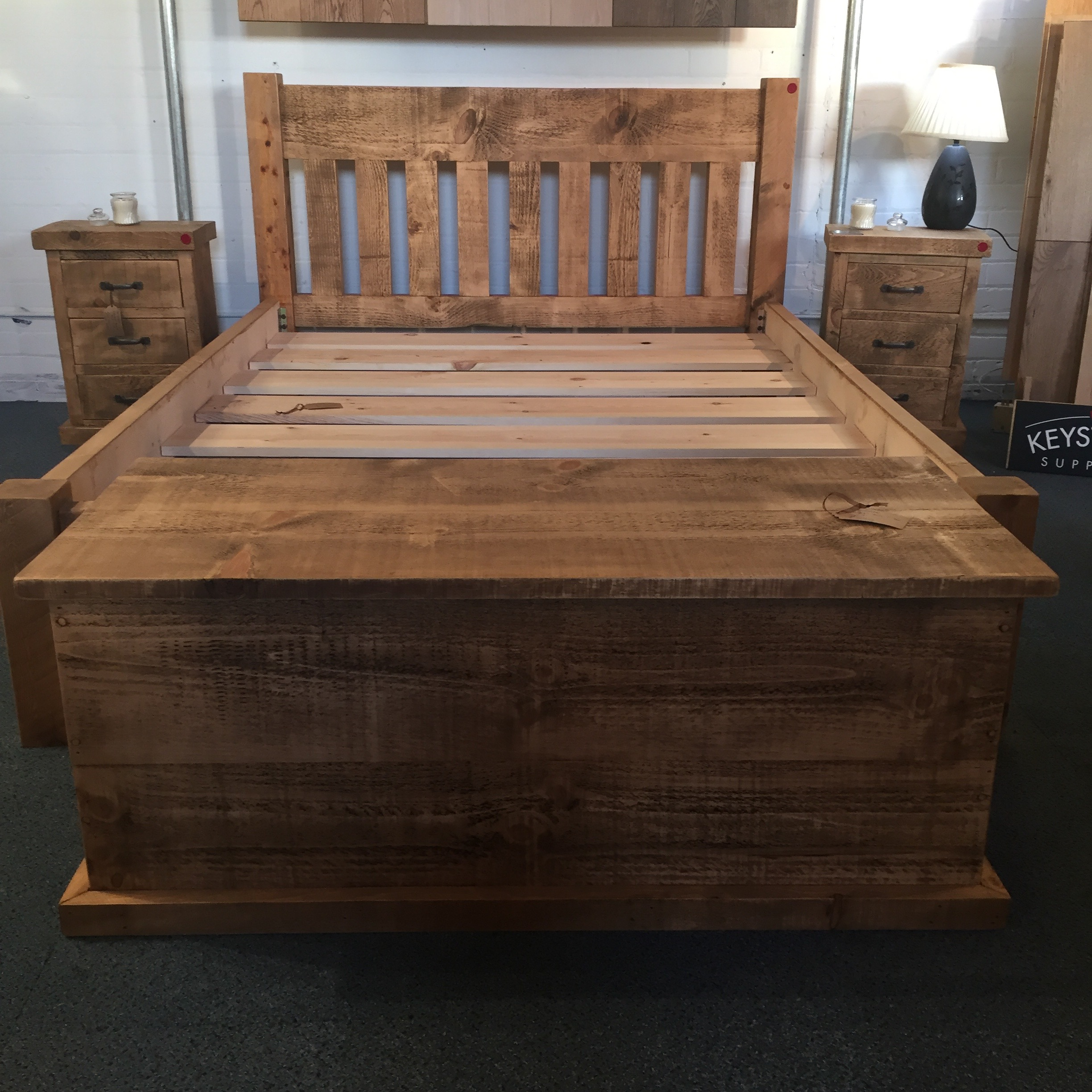 Handmade blanket box