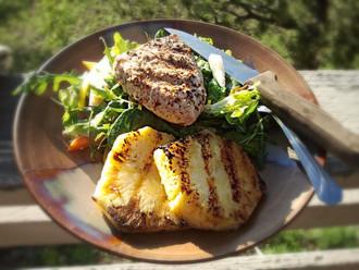 Grilled Ahi Tuna and Pineapple