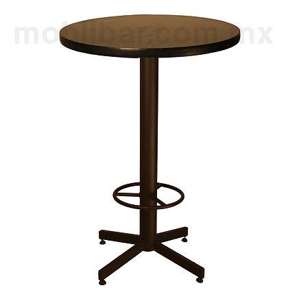 Mesa con cubierta de formaica marco PVC redonda ALTA