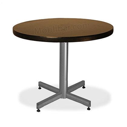 Mesa con cubierta de formaica marco PVC redonda BAJA