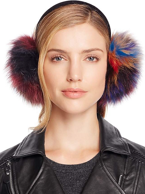 Multicolored Fur Earmuffs