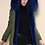Thumbnail: Green Parka with Blue Fur Lining