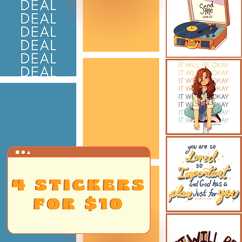 Stickers 4 for $10