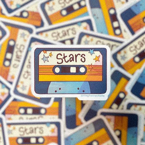 """Stars"" Mixtape Sticker"