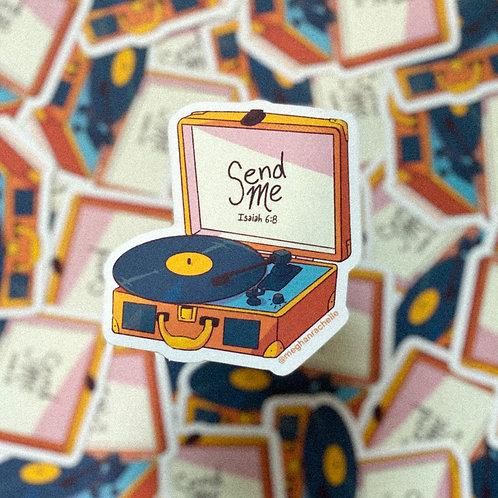 """""""Send Me"""" Record Sticker"""