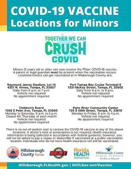 2021 COVID Vaccine Minors Flyer 5-13-202