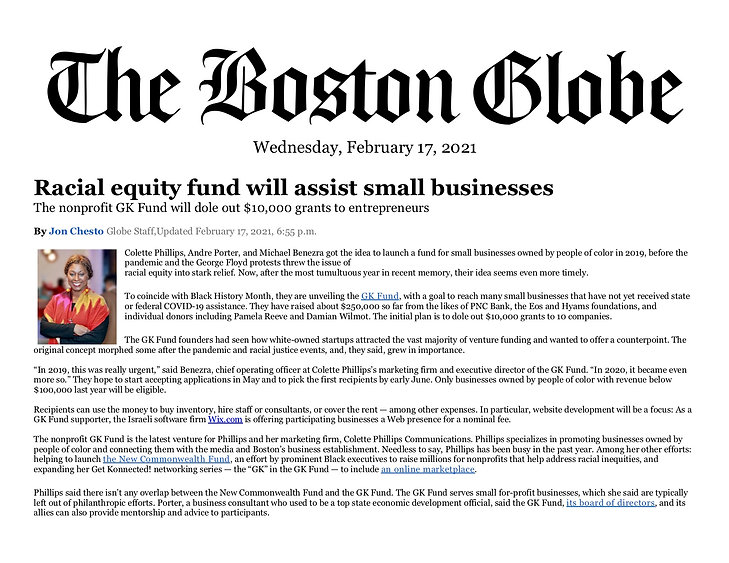 Racial equity fund will assist small bus