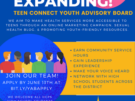 Join the Teen Connect Youth Advisory Board