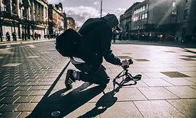 거리를 촬영